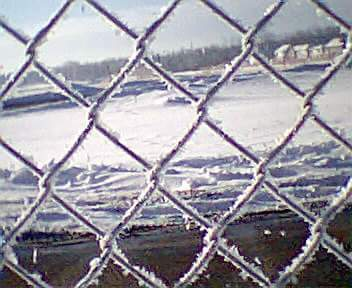 iced chain link